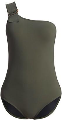 Karla Colletto Swim Angelina One-Shoulder One-Piece Swimsuit
