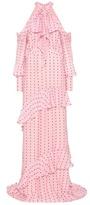 Erdem Aliza Ruffled Silk Dress
