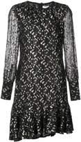 Derek Lam 10 Crosby Long Sleeve Asymmetrical Ruffle Hem Dress