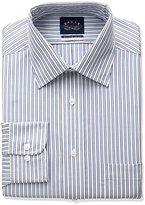 Eagle Men's Non Iron Flex Collar Regular Fit Multi Stripe Spread Collar Dress Shirt