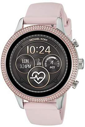 Michael Kors Womens Runway Touchscreen Smartwatch Stainless Steel Leather watch