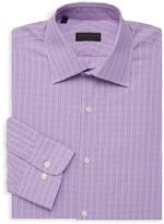 Ike Behar Ike By Checkered Long-Sleeve Dress Shirt