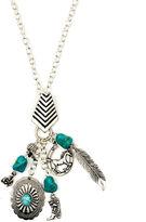 Arizona Silver-Tone Feather, Boot & Horseshoe Charm Necklace