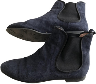 Pretty Ballerinas Blue Suede Ankle boots