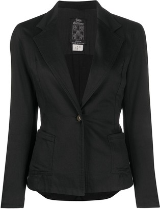 John Galliano Pre-Owned 1980s Fitted Jacket