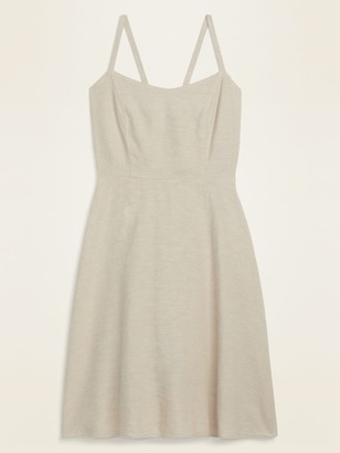 Old Navy Fit & Flare Linen-Blend Cami Mini Dress for Women