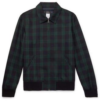 A.P.C. Blackwatch Checked Twill Blouson Jacket
