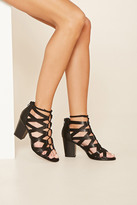 Forever 21 FOREVER 21+ Cutout Lace-Up Block Heels