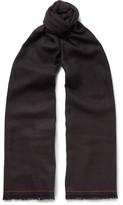 Ermenegildo Zegna - Micro-check Woven Wool Scarf