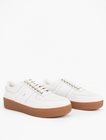 Neil Barrett White Leather Studded Sneakers