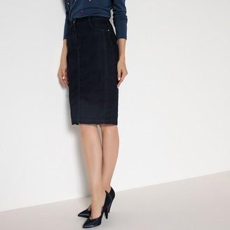 Anne Weyburn 5-Pocket Denim Pencil Skirt