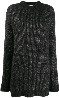 Saint Laurent Metallic Loose-Knit Jumper