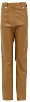 Ludovic de Saint Sernin Topaz Waist-tab Leather Trousers - Gold
