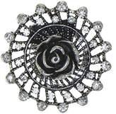 AJ Fashion Jewellery CROCOSMIA Antique Tone Crystal Scarf Clip