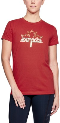 Under Armour Women's UA Team Canada Performance Leaf Graphic T-Shirt