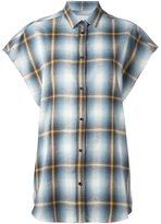IRO checked shortsleeved shirt - women - Cotton - XS