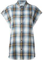 IRO checked shortsleeved shirt - women - Cotton - XS