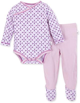 Burt's Bees Distressed Tile Organic Baby Bodysuit & Footed Pant Set