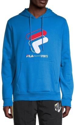 Fila Logo Cotton-Blend Hoodie