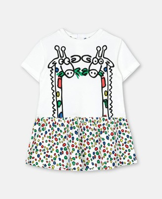 Stella McCartney giraffe jersey dress