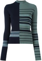 Maison Margiela contrast stripe knitted sweater - women - Polyamide/Polyester/Spandex/Elastane/Wool - M