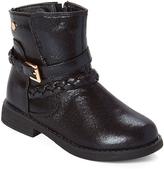 Black & Gold Glitter Ankle Boot