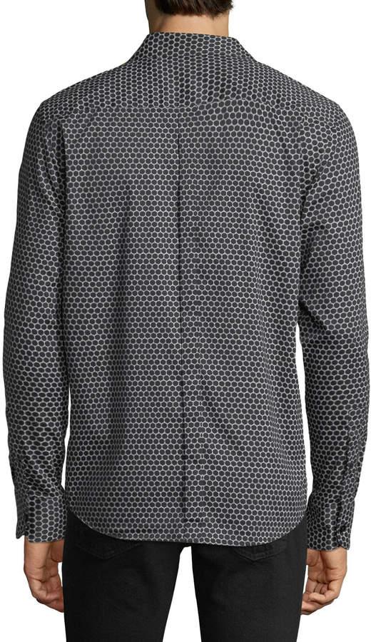 Karl Lagerfeld Paris Men's Large Dot-Print Sport Shirt