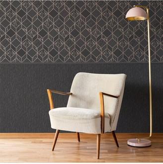 Vittorio Charcoal/Rose Gold Wallpaper