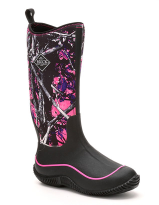 The Original Muck Boot Company Women's Rain boots MNS - Black & Pink Muddy Girl Hale Boots - Women