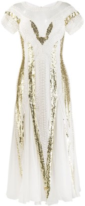 Temperley London embroidered cut out dress