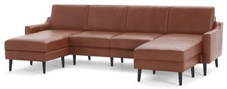 "west elm Burrow Nomad Leather King Sectional with Double Chaise (112"")"