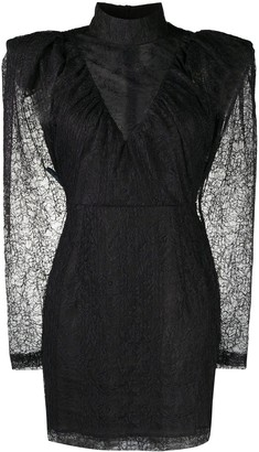 Rotate by Birger Christensen Floral Lace Structured Mini Dress