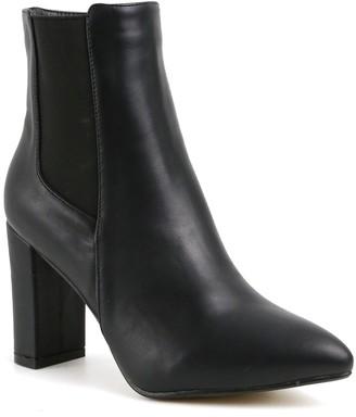 Catherine Malandrino Oliven Vegan Leather Pointy Toe Block Heel