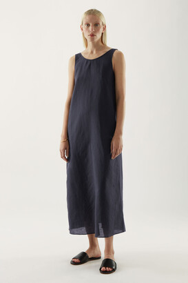 Cos Linen Exposed Back Maxi Dress