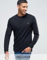 Jack Wills Dunsford Long Sleeved T-shirt In Black