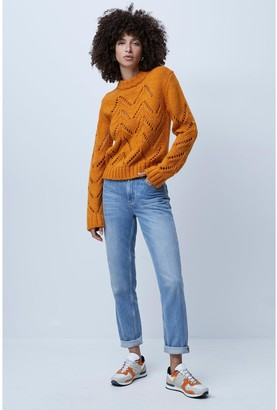 French Connection Josette Crew Neck Jumper - Orange