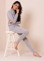 Missy Empire Casa Marl Grey Fine Knit Loungewear Tracksuit