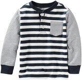 Osh Kosh Knit Polo Henley (Toddler/Kid) - Stripe - 3T
