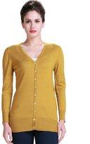 Camii Mia Women's Casual Long Sleeve Wool Knit Cardigan Sweater