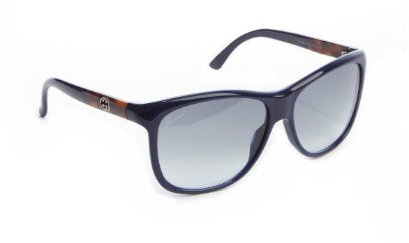 Gucci navy acrylic wayfarer sunglasses