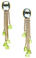 Tresor Collection - 18Kt Yellow Gold Earring With London Blue Topaz & Peridot Drops