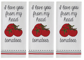 Tomatoes Dish Towels (Set of 3)