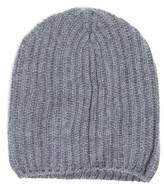 Drakes Drake's Cashmere Ribbed Hat in Grey