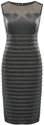 M&Co Metallic mesh shutter dress
