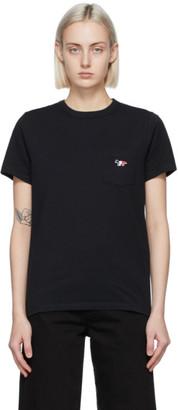 MAISON KITSUNÉ Black Tricolor Fox Classic Pocket T-Shirt