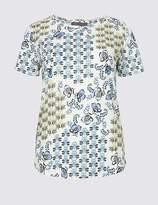 Marks and Spencer Geometrical Print Short Sleeve T-Shirt