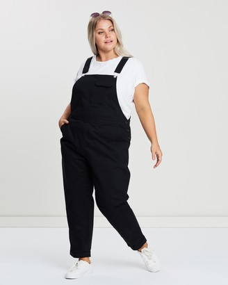 Atmos & Here Atmos&Here Curvy - Women's Black Jumpsuits - Bobbie Overalls - Size 18 at The Iconic