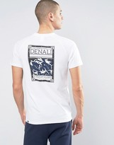 The North Face Denali Face T-shirt Back Print In White
