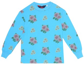 The Animals Observatory Floral cotton T-shirt