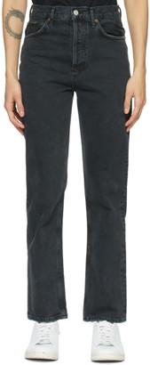 AGOLDE Black 90s Pinch Waist High-Rise Straight Jeans
